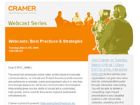 Cramer 2009 Webcast Series template