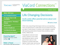ViaCord Winter 2009 Newsletter article